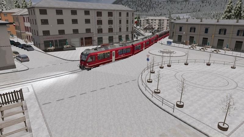 Train Simulator 2020. Winter Bernina Express