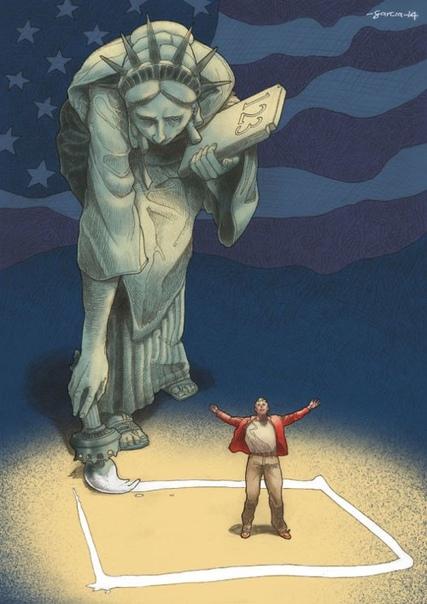 Иллюстрации художника Даниэля Гарсия, показывающие, что не так с нашим обществом Даниэль Гарсия (Daniel Garcia) профессиональный иллюстратор с любовью к политическим, социальным и человеческим