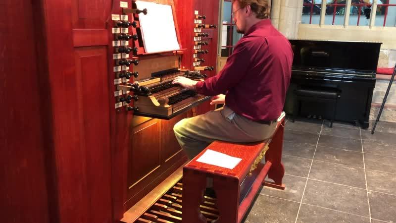 1054 J. S. Bach / Bernard Winsemius - Organ Concerto No.3 in D major, BWV 1054 - Sietze de Vries, organ