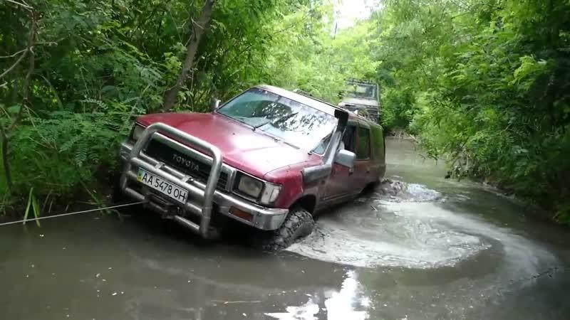 Нива МАРШ легко NISSAN PATROL тяжело, Toyota 4Runner почти проехал OFF ROAD в Нескучном часть-4