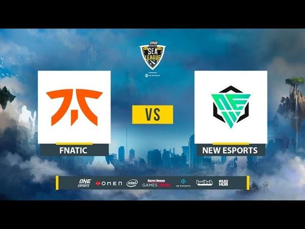 Fnatic vs NEW Esports ONE Esports Dota 2 SEA League bo2 game 2 Lex