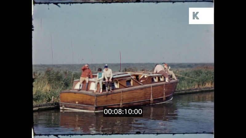 1950s Couple Sail Down River, UK Home Movies