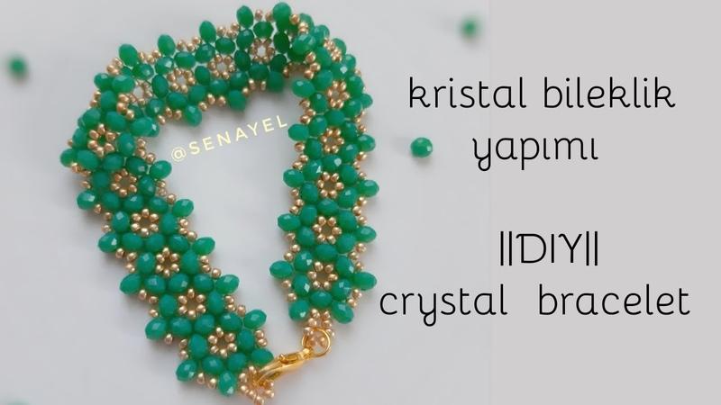 Şık Kristal Bileklik Yapımı || DIY || Crystal Bracelet