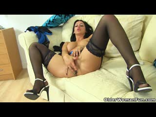 British milf cassie plays with boobs and fanny