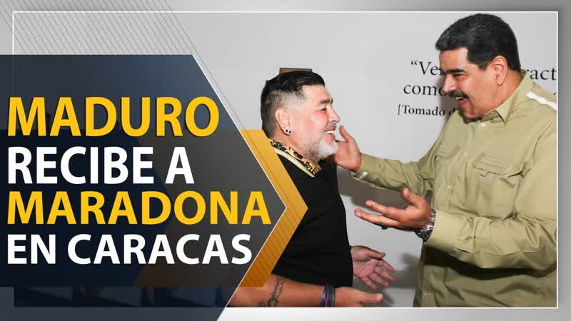 Maduro recibe a Maradona en Caracas
