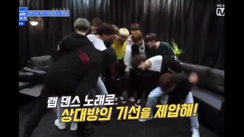 Bts really taught txt how to do the iconic pd bang meme lmaoo theyll never stop clowning him