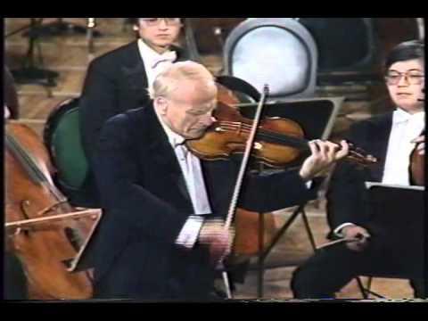 Yehudi Menuhin plays JS Bach Partita for solo violin No 3 in E major Prelude