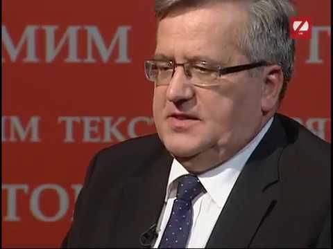 Прямим текстом: Гість програми - Броніслав Коморовський, президент Польщі у 2010-2015 роках