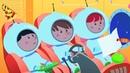РАКЕТА Развивающий мультик песенка для детей малышей про Синий трактор космос планеты звезды
