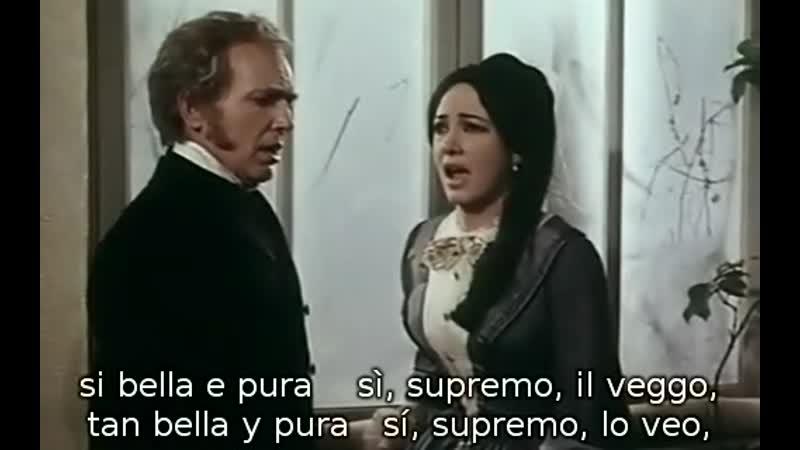 Anna Moffo Gino Bechi Franco Bonisoli Acto 2 de La Traviata de Verdi subtítulos español e italiano 1968