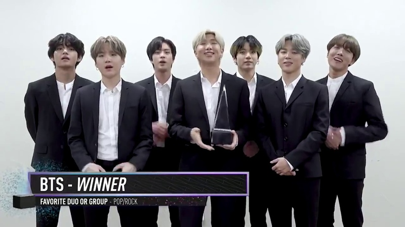 BTS Wins Favorite Duo or Group Pop Rock I AMAs 2019