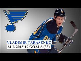 Vladimir Tarasenko. All 33 Goals 18/19 NHL Season