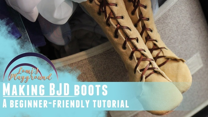 How to make boots for BJDs Beginner friendly tutorial