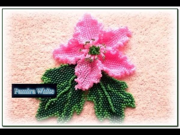 Нежный цветок из бисера плетем легко. Часть 1. Мастер-класс
