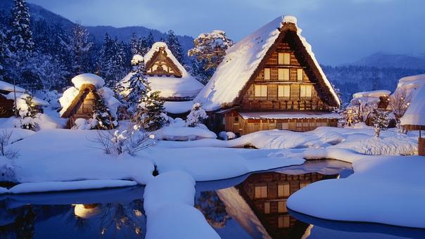 Зима Дом Обои На Рабочий Стол
