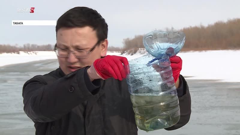 В районе села Табага в пригороде Якутска зафиксировано загрязнение реки Лена