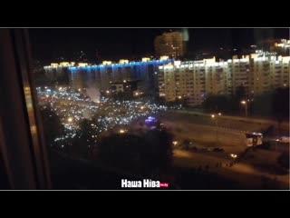 #necro_tv: Протестующие в Минске зажгли фонарики