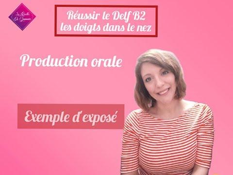Production orale Delf B2 exemple d'exposé