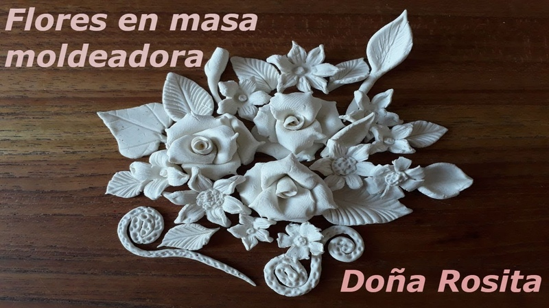 Como hacer flores con porcelana fria o masa moldeadora sin molde facil de hacer
