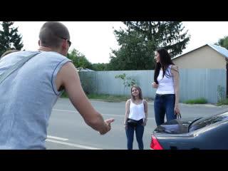 Самая высокая девушка с самой маленькой подругой. реакция друзей [красавица и чудовище] (выпуск 200)