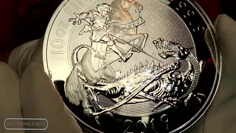 10 унцовый георгий победоносец 2019 2019 Valian 10 oz silver coin