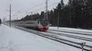 Электропоезд ЭД4М-0445 на перегоне Раменское-Быково.