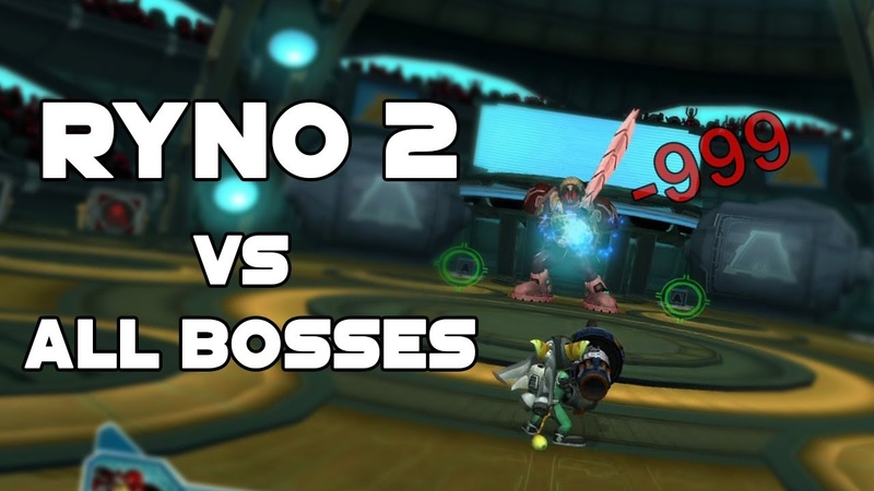 RYNO II vs All bosses Ratchet and Clank 2 New Game