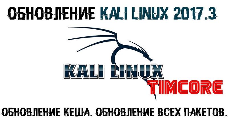 Обновление Kali Linux 2017.3 | Обновление Кеша. Обновление всех пакетов.