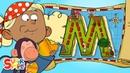 Alphabet Cartoon - The ABC Pirates have a Magical Adventure on M Island