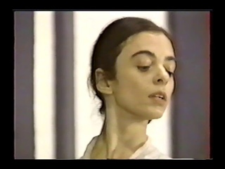 Alessandra Ferri and Julio Bocca rehearse L'Ombre by Pierre Lacotte with ballet master Willy Burmann
