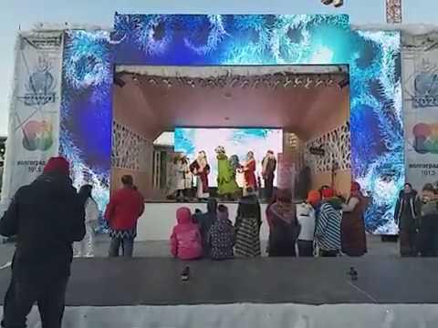 04 01 20г ДК Родина на Главной елке Волгограда Деды Морозы зажигают елку