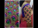 Most Beautiful Overall Design with Normal Stitching Needle Same Like Aari Maggam work on Blouse