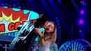 Ariana Grande Trys to avoid Ian Somerhalders kiss at Teen Choice Awards