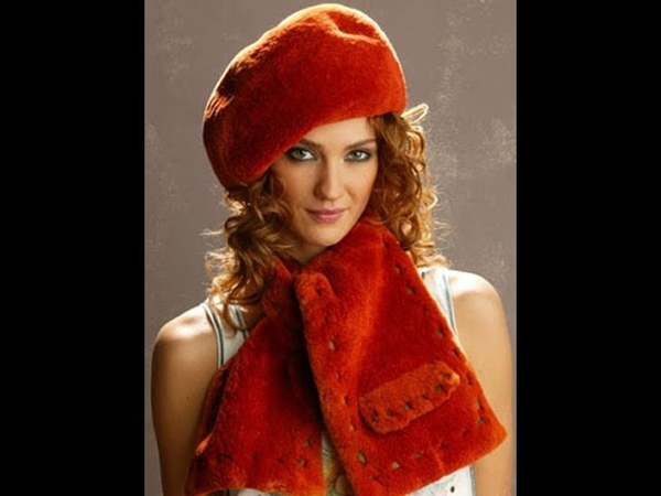 Создаем красивый берет из искусственного меха. Sew a beautiful beret