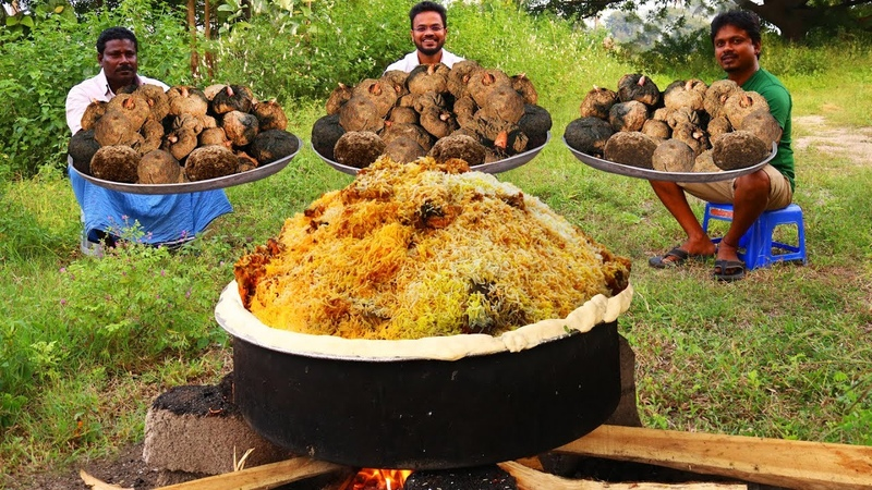 Elephant Foot Yam Mutton Biryani Recipe   How To Make Elephant Foot Yam Lamb Meat Mixed Biryani