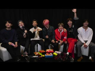 190806 bts ask halsey one question and we find out the gift she asked them for! @ entercom