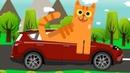 МАШИНКИ - Развивающий мультик и детская песенка для детей про машинки и веселых зверей.