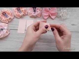 Резинки Канзаши с принцессами ЛОЛ, МК _Бантики из лент_Янина Воропаева_ DIY RIBBON FLOWERS