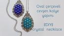 Cevşen kolye yapımı    oval çerçeveli model    DIY    crystal necklace