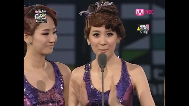 Wonder Girls win Best Female Group @ MKMF 2008 081115