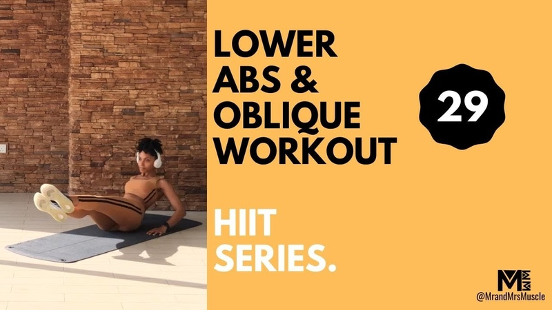 MrandMrsMuscle - Lower Abs Oblique HIIT Workout with Modifications | Интенсивная тренировка с акцентом на живот и талию