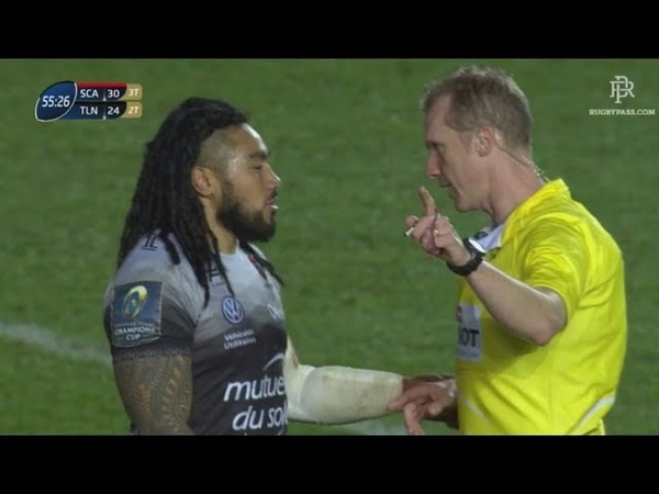 Wayne Barnes to Nonu - If you come ask for a yellow card you'll get it [Scarlets vs Toulon '18]