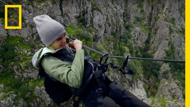 Cara Delevingne Pulls Herself Across a Canyon | Running Wild With Bear Grylls