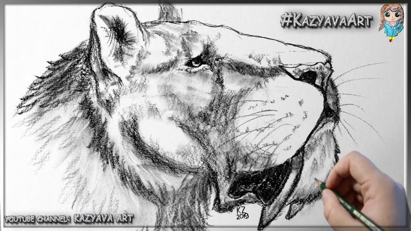 Как нарисовать саблезубую кошку Мегантереон