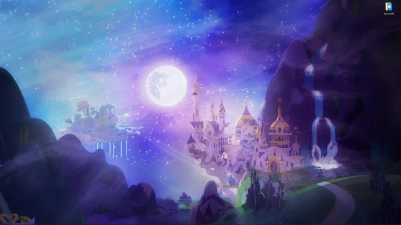 Королевство Кантерлот в мультике Мой Маленький Пони Дружба это чудо живые обои для Wallpaper Engine