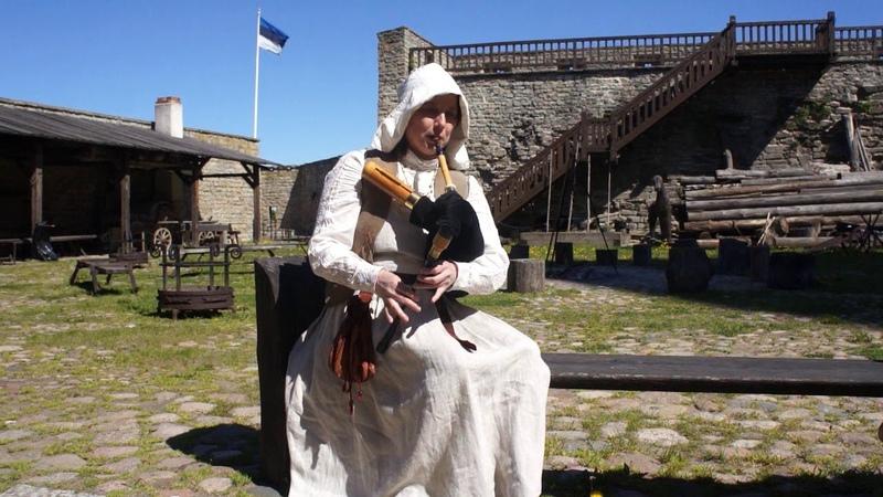Old Estonian melody Old Jack Bagpipe E Kuznetcova Narva Castle Norh Court Estonia
