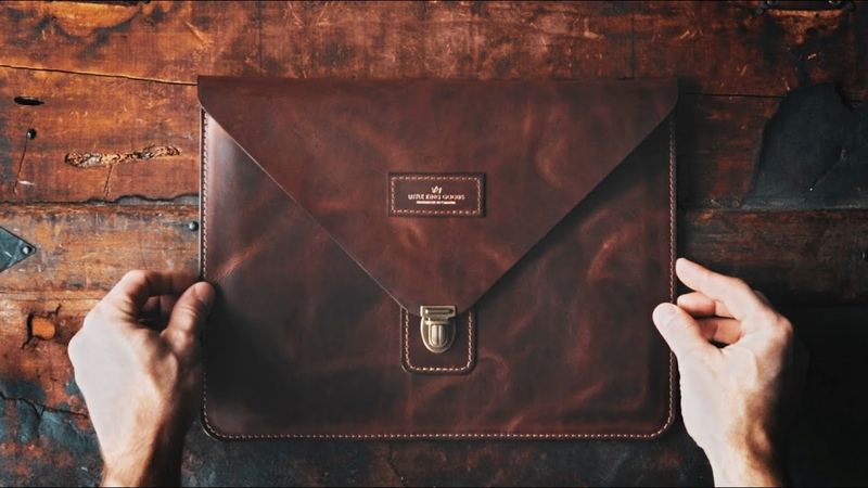 MAKING A HANDMADE ENVELOPE STYLE LEATHER IPAD COVER DIY BUILD ALONG ASMR