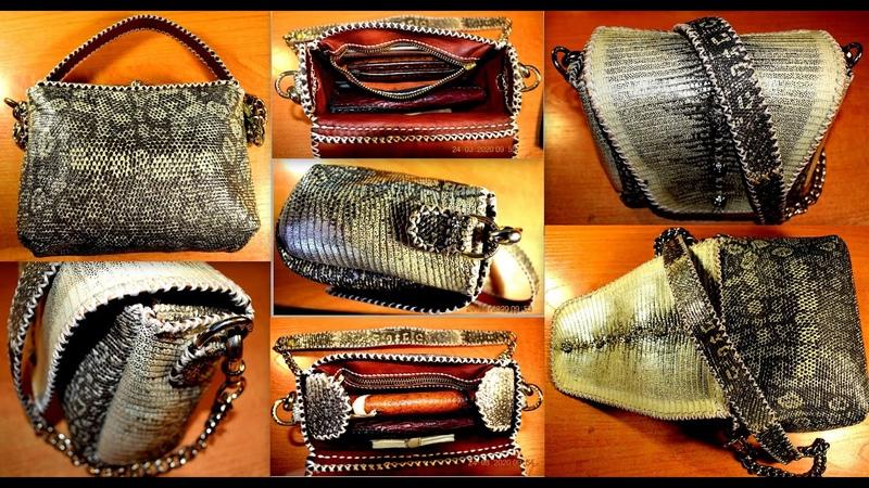 Женская сумочка из Игуаны 2 ч Эксклюзивные изделия из кожи