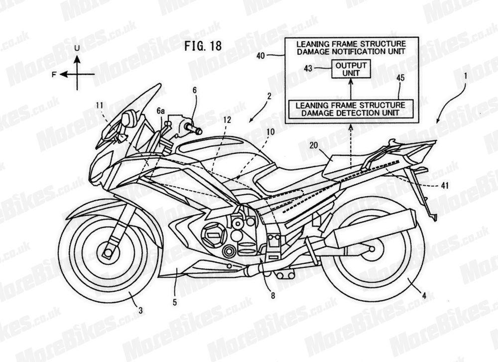 Yamaha патентует карбоновую раму, отслеживающую свои повреждения