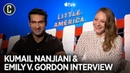 Kumail Nanjiani Emily V Gordon on How The Rock Is Part of the 'Little America' verse